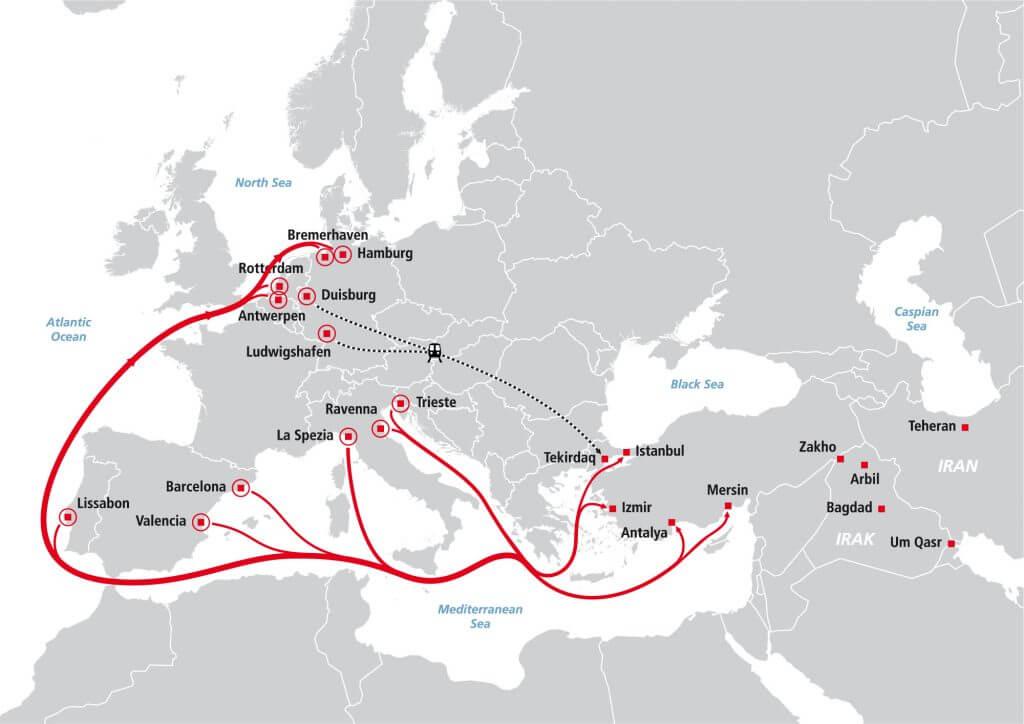 Türkei, Naher und Mittlerer Osten