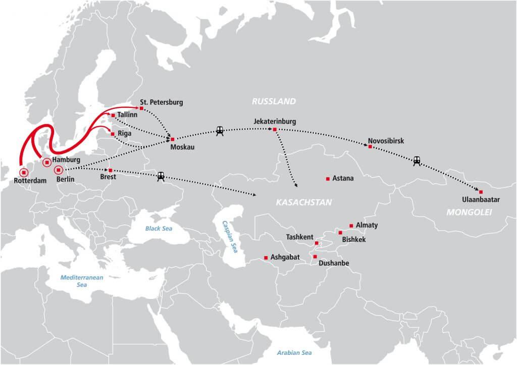 GUS-Landverkehre und Bahntransporte